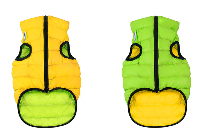COLLAR BRAND | Reversible AiryVest in Light Green and Yellow