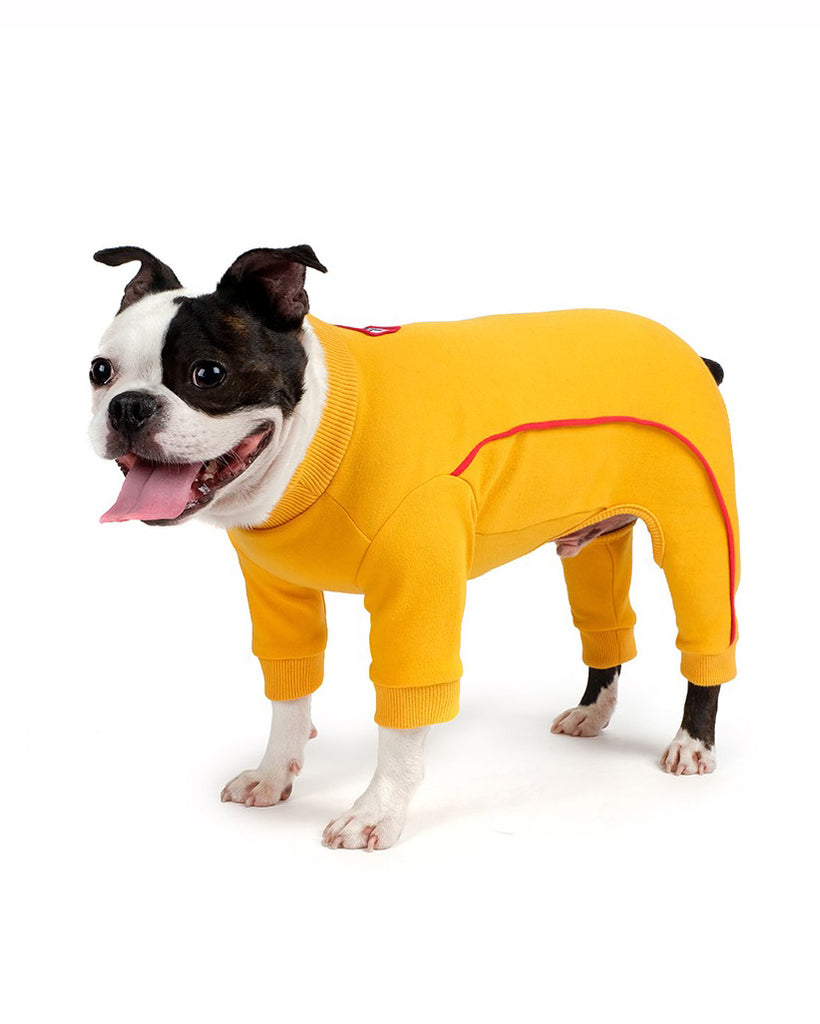Bruce Warmer Dog Onesie in Yellow (FINAL SALE)
