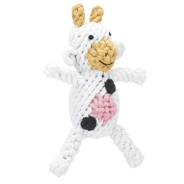 Claire the Cow Rope Dog Toy