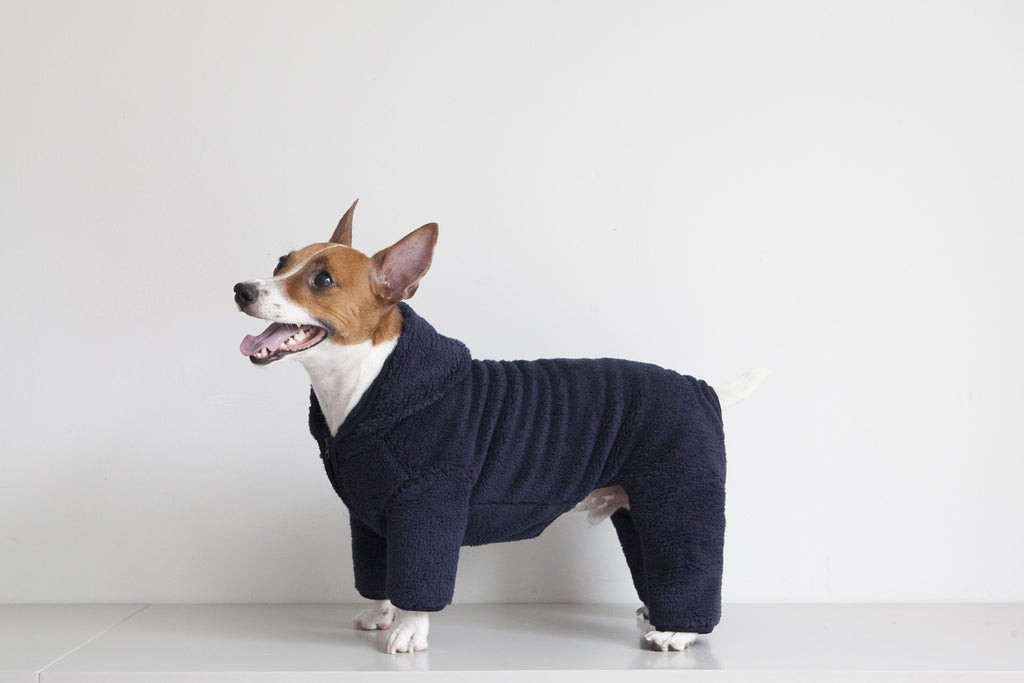 DENTISTS APPOINTMENT | Boa Fleece All-in-One in Navy