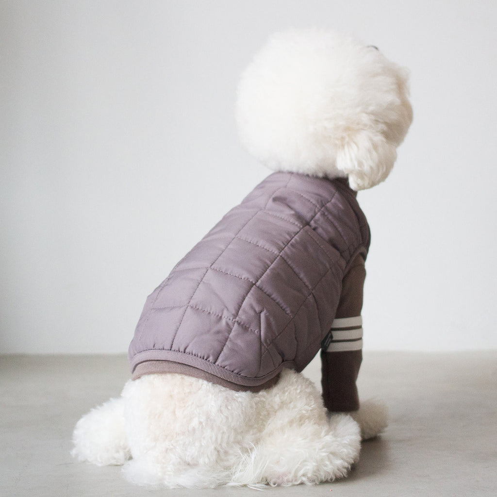DENTISTS APPOINTMENT | Warm Quilted Vest in Mocha (w/ Harness Hole)