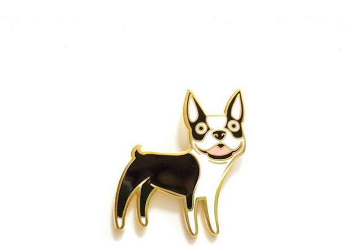 DOGGIE DRAWINGS | Boston Terrier Enamel Pin