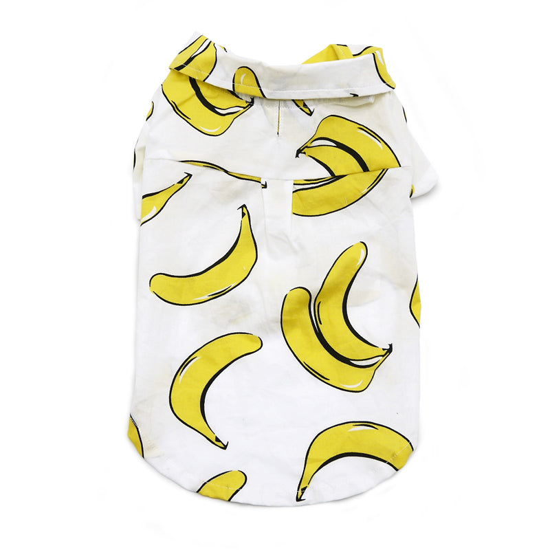 Banana Button Down Dog Shirt (FINAL SALE)