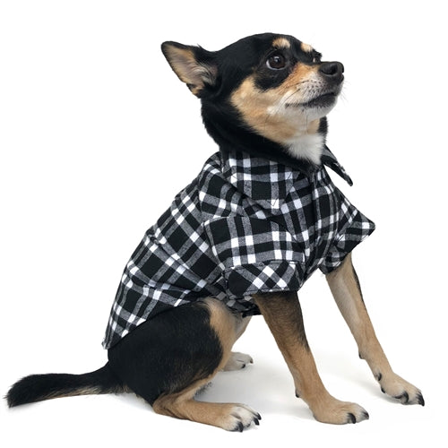 DOGO | Flannel Button Down Shirt in Black