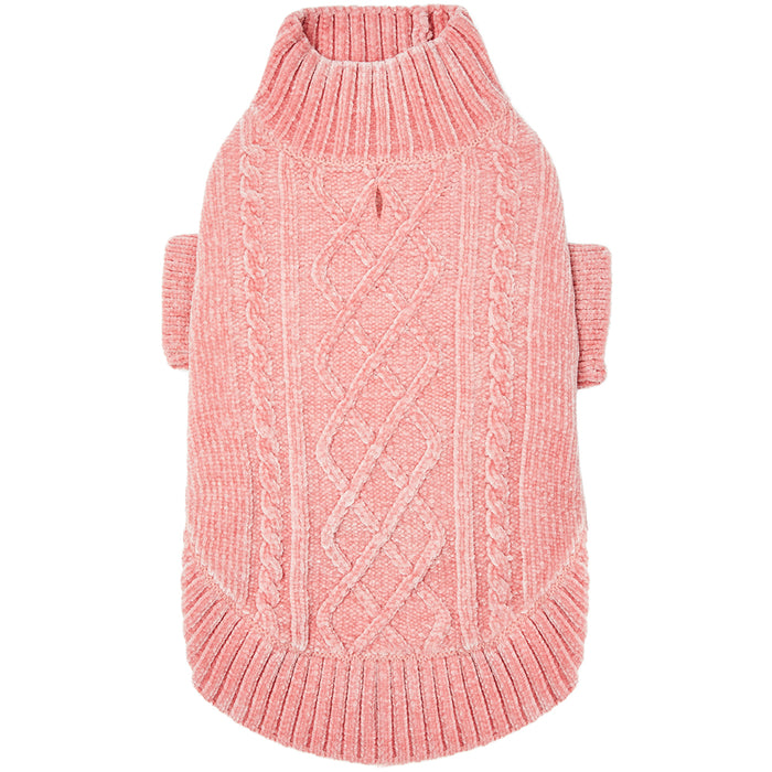 DOGS & CATS & CO. | Cozy Chenille Sweater in Dusty Rose