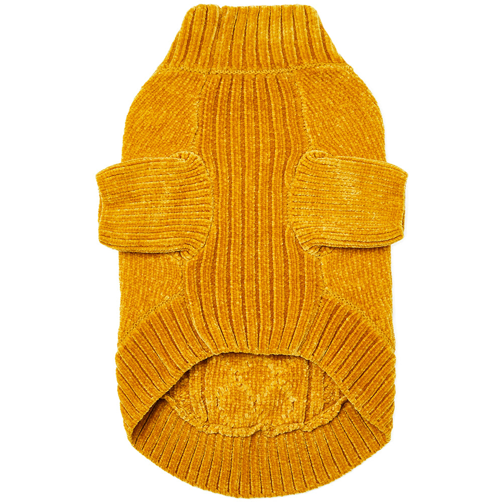 DOGS & CATS & CO. | Cozy Chenille Sweater in Mustard