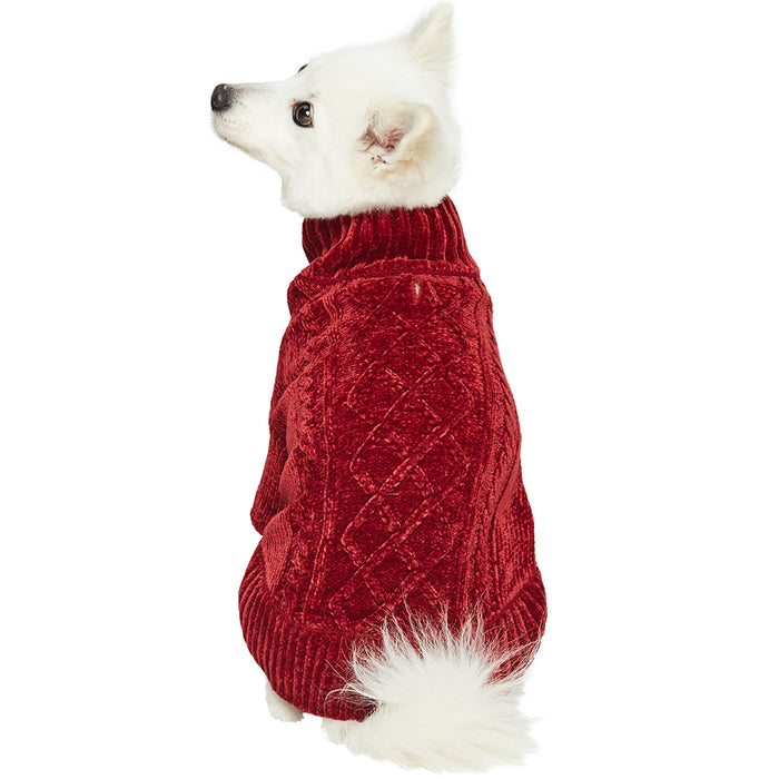 DOGS & CATS & CO. | Cozy Chenille Sweater in Red