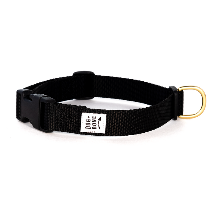 DOG + BONE | Snap in Collar in Black