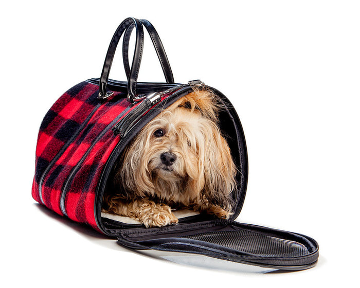 PETOTE | JL Duffel in Red Wool Plaid