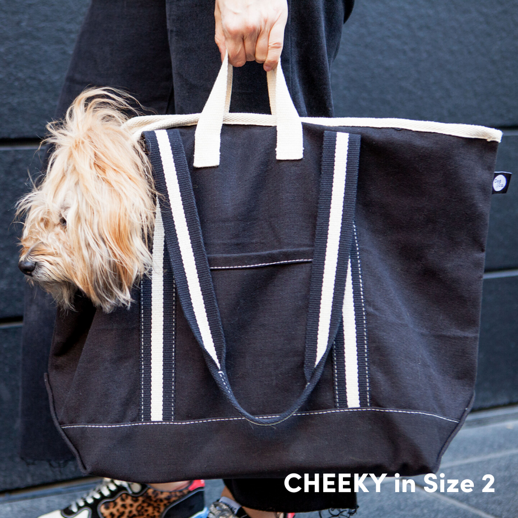 City Carrier Bag in Size 4 (Black Canvas or Navy Canvas)