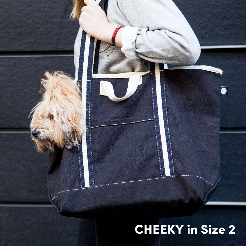 City Carrier Bag in Size 3 (Black Canvas or Navy Canvas)