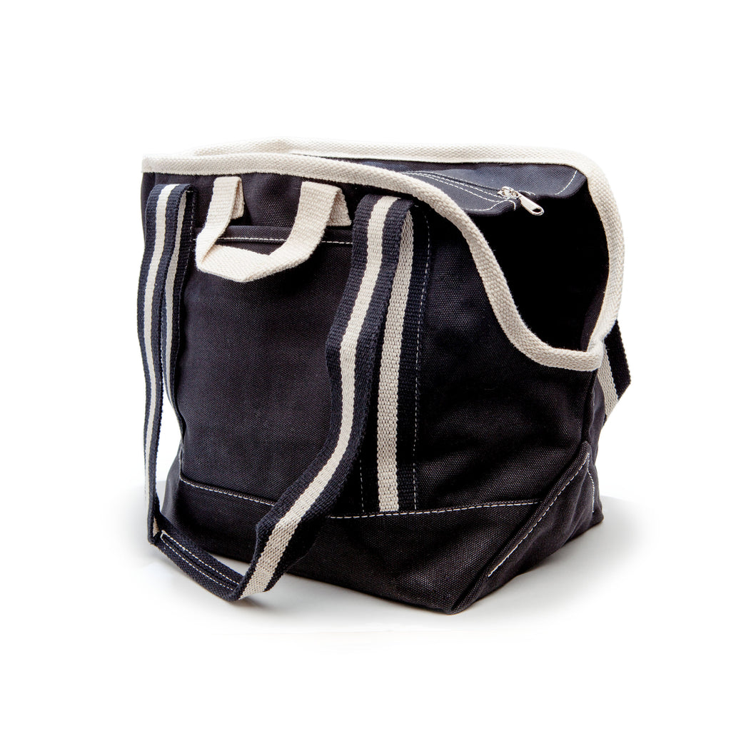 City Carrier Bag in Size 1 (Black Canvas or Navy Canvas)