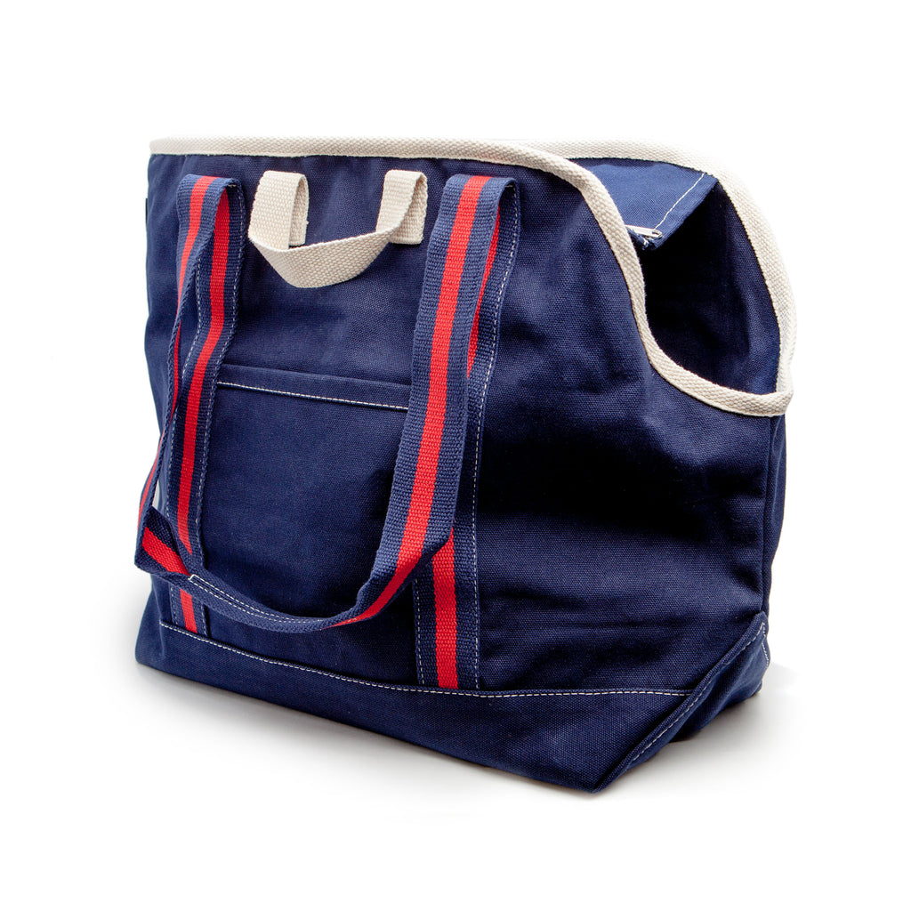 City Carrier Bag in Size 2 (Black Canvas or Navy Canvas)