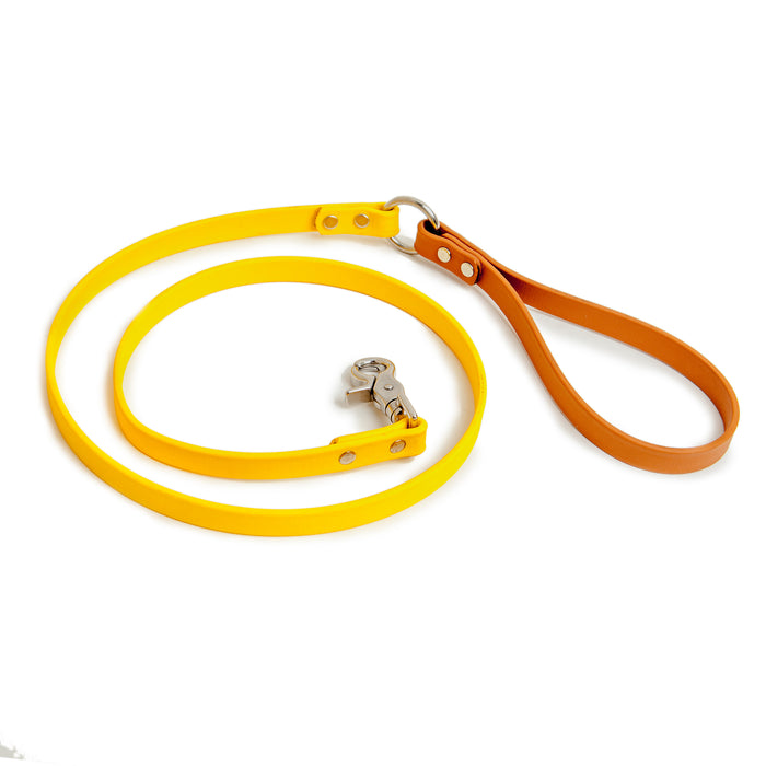 DOG & CO. | City Leash in Gold & Tan