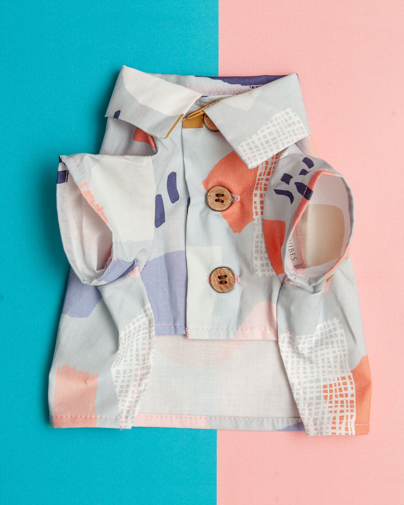 Pop Art Button Down Dog Shirt