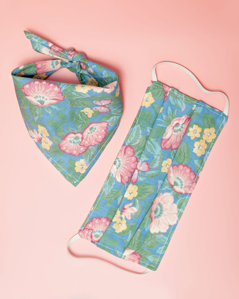 Matching Floral Mask & Bandana Set (All Proceeds to NAACP) (IMMEDIATE SHIP)