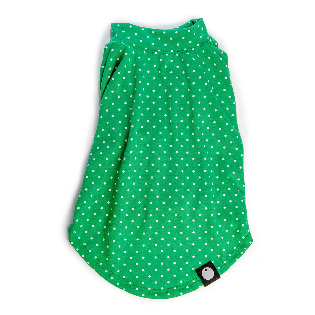 DOG & CO. | Perfect T in Kelly Green Dot