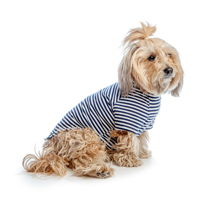 DOG & CO. | Perfect T in Navy & White Sailor Stripe
