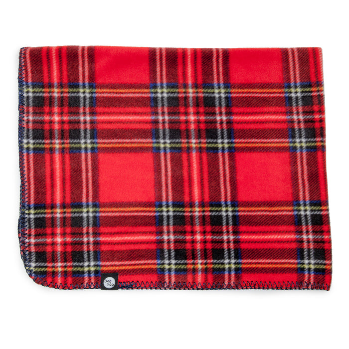 DOG & CO. | Red Tartan Plaid Fleece Blanket