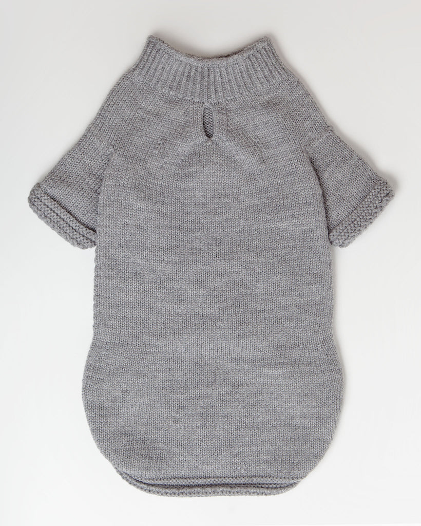 The Mabel Dog Sweater in Grey