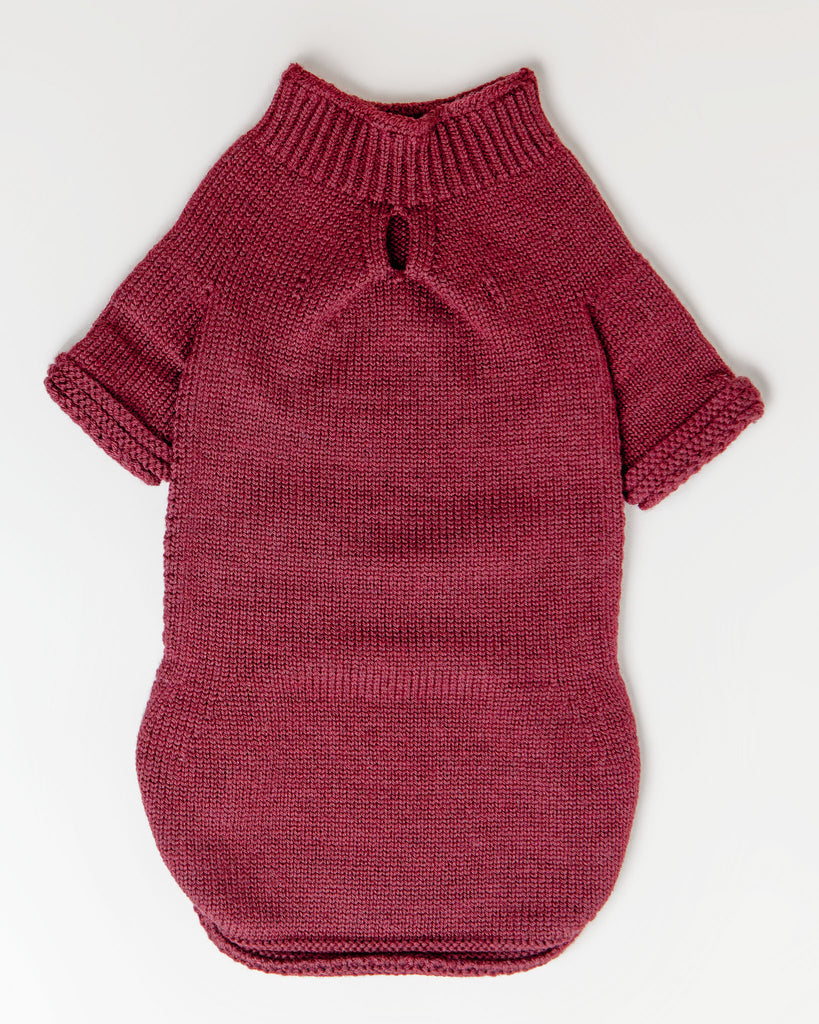The Mabel Sweater in Wine