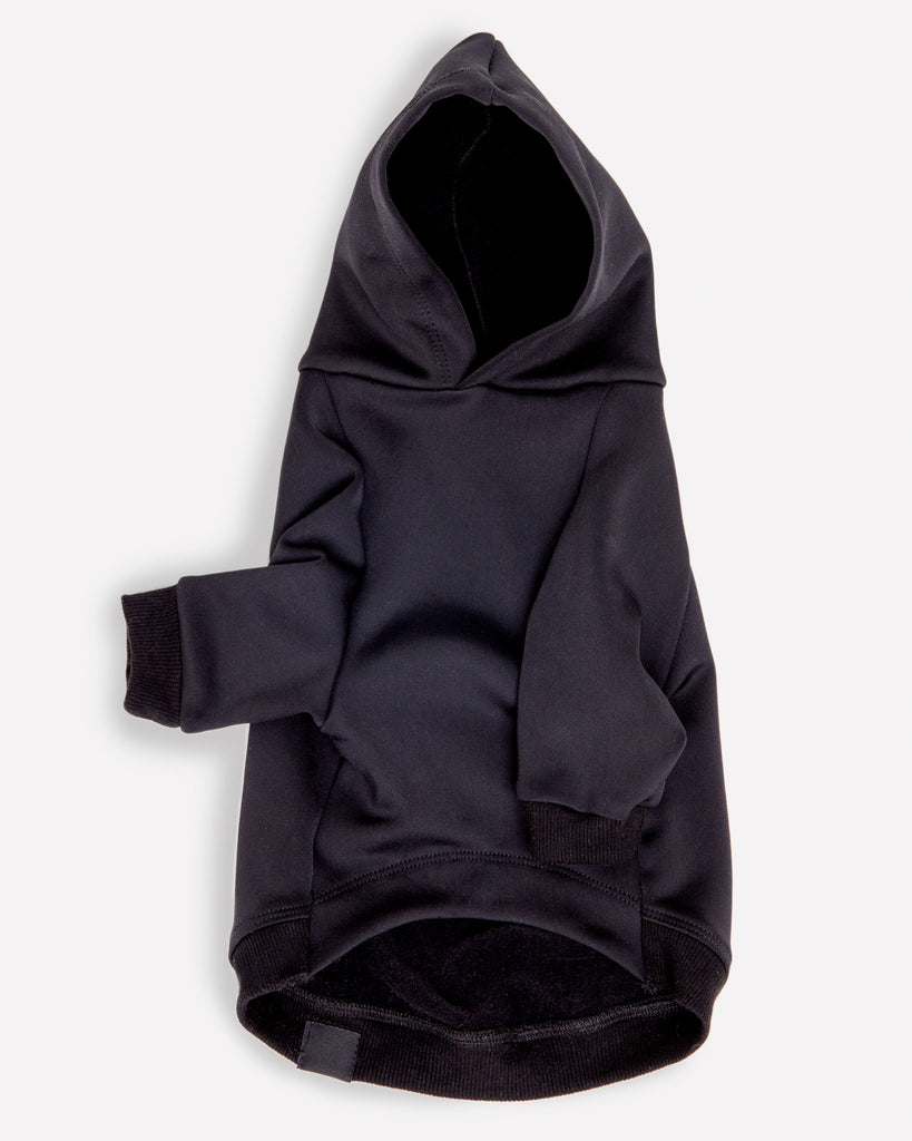 Water Resistant Dog Hoodie in Black