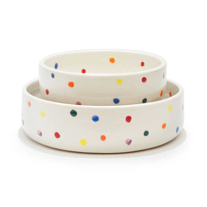 BTW CERAMICS | Colorful Dots Bowl (Dog & Co. Exclusive)
