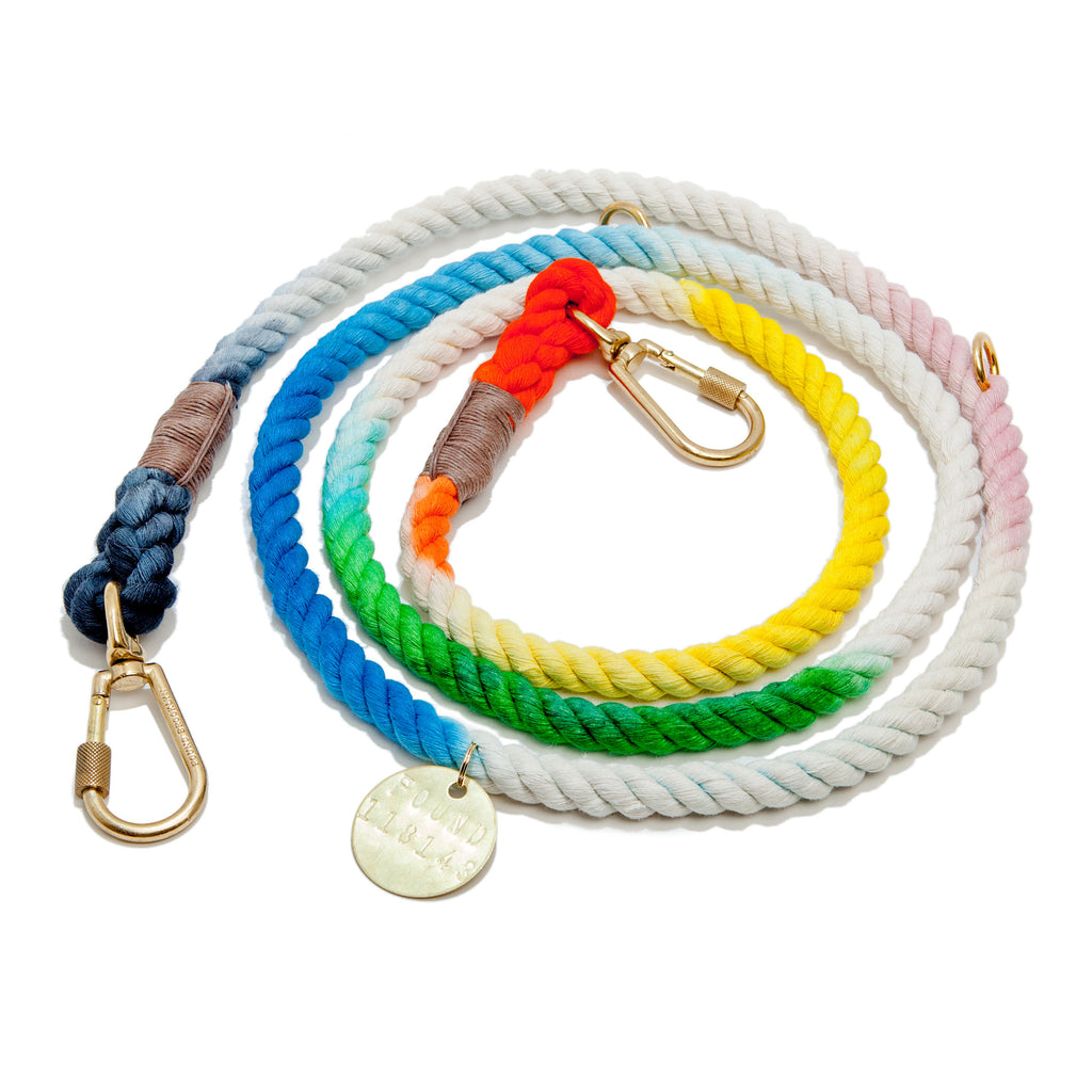 Adjustable Rope Lead in Dog & Co. Ombre