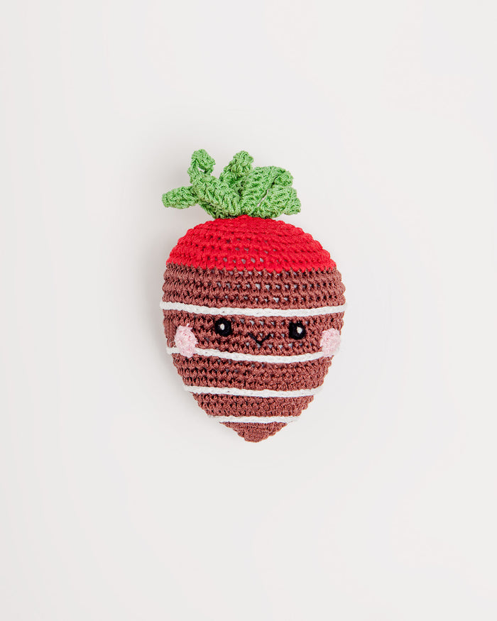 KNIT KNACKS | Milk Chocolate Stawberry Organic Knit Toy