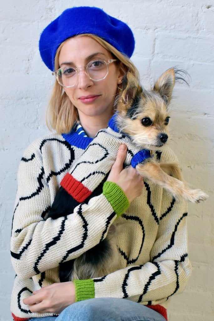 DUSEN DUSEN | Ivory Arc Dog Sweater