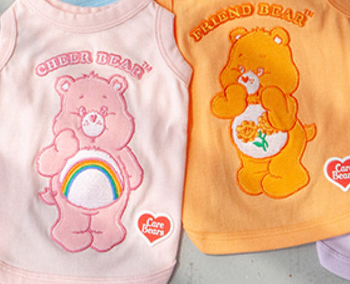 Care Bear Sleeveless Tank Top - Friend Bear in Peach (IMMEDIATE SHIP)