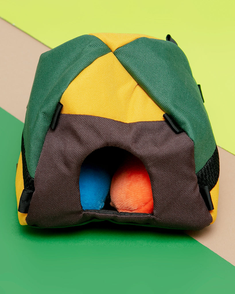 Trailblazing Tent Interactive Plush Dog Toy