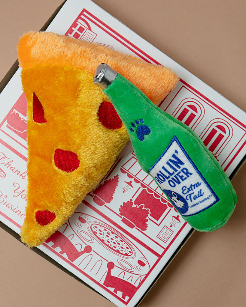 Pizza Party! Dog Toy Bundle