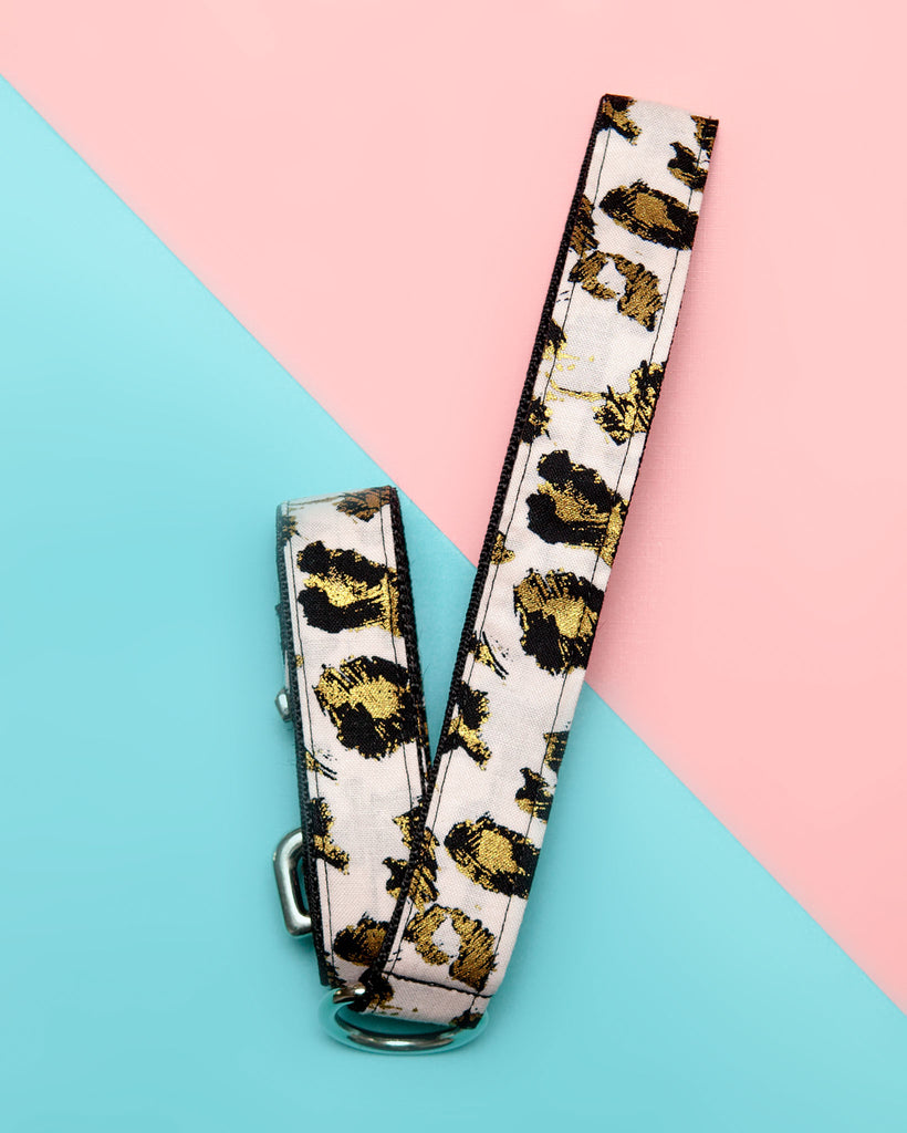 Blush Pink Animal Print Dog Leash (Made in the USA)