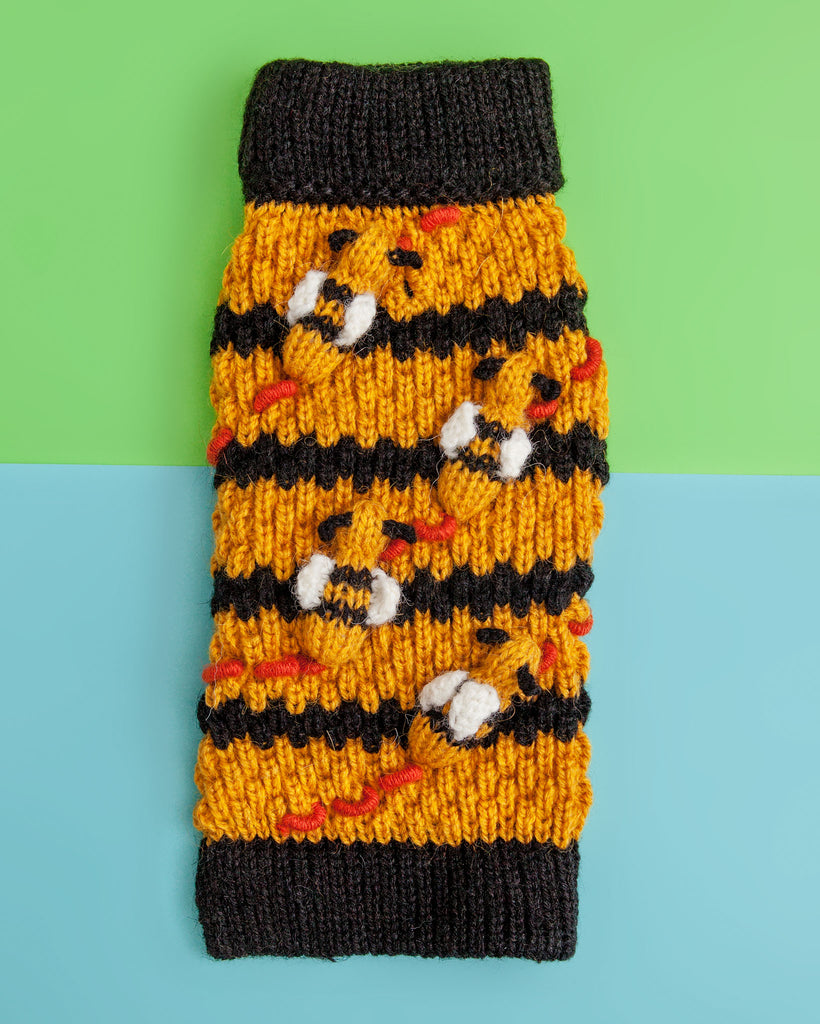 Buzz Off! Bumble Bee Hive Hand-Knit Sweater (FINAL SALE)