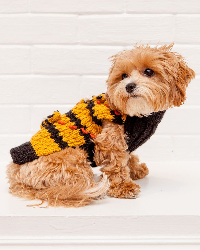 Buzz Off! Bumble Bee Hive Hand-Knit Sweater