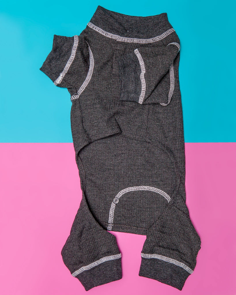 Thermal Dog PJs in Charcoal
