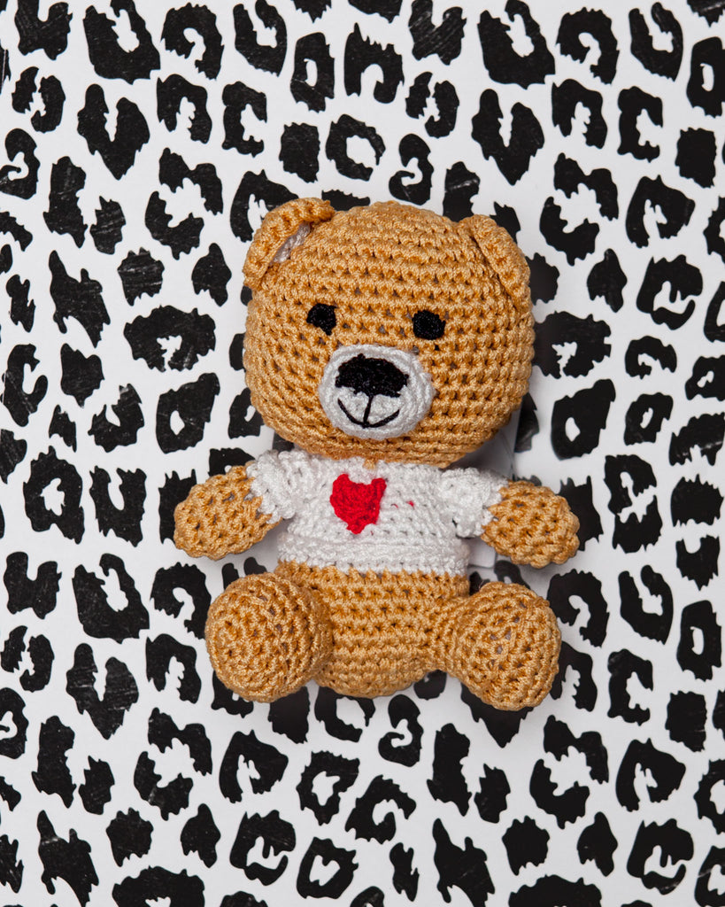 Teddy Bear Organic Knit Dog Toy