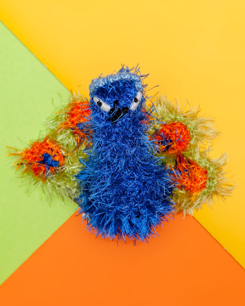 Proud Peacock Crochet Squeaky Dog Toy (FINAL SALE)