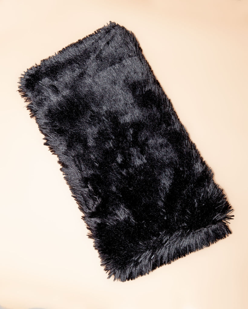 Black Powder Puff Plush Dog Blanket