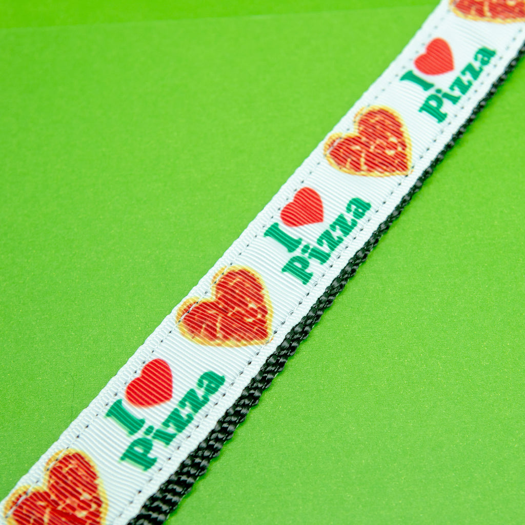 Pizza Party Dog Collar (Made in the USA)