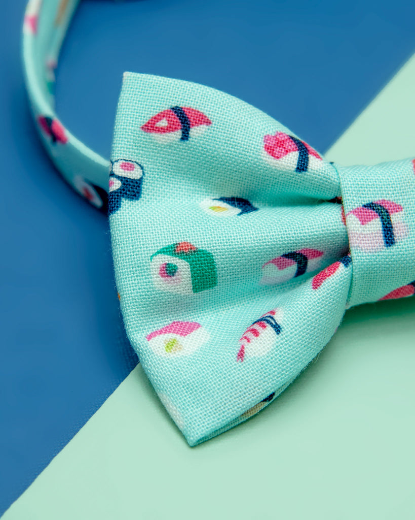 Sushi Style Cat Collar and Bowtie Set (Made in the USA)