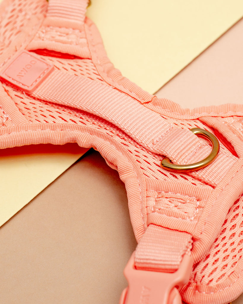 Huggie Dog Harness in Peach