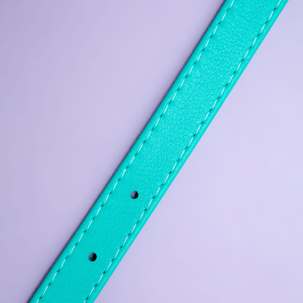 Spearmint Leather Dog Collar