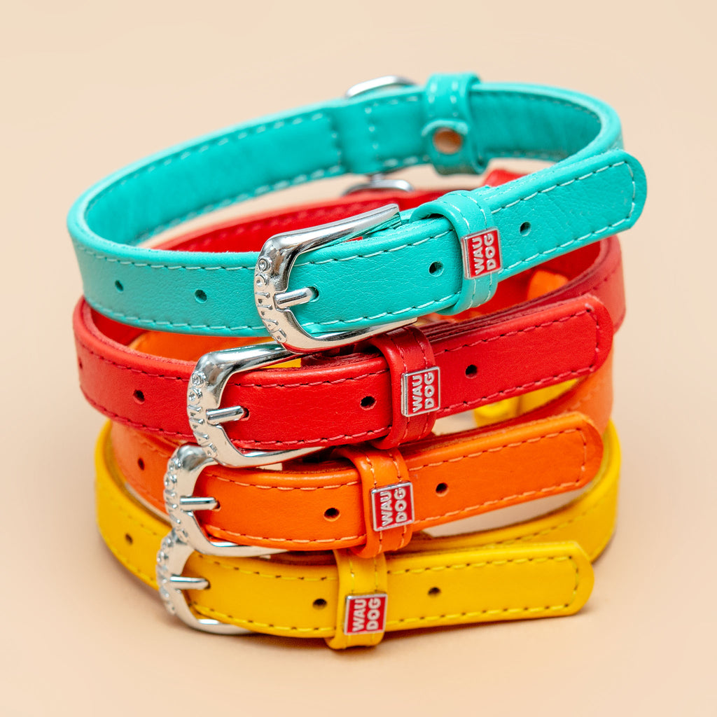 Really Red Leather Dog Collar