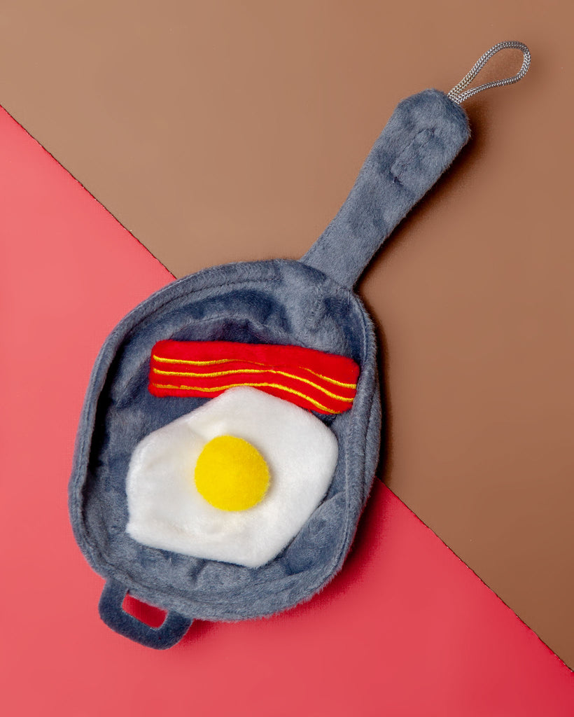 Bacon & Eggs Cat Toy Set