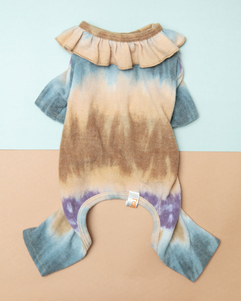 Tie-Dye Ruffle Dog Onesie (Made in the USA)
