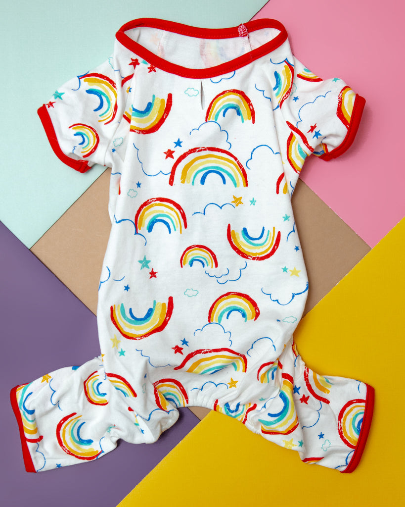 Rainbow Dog PJs Onesie