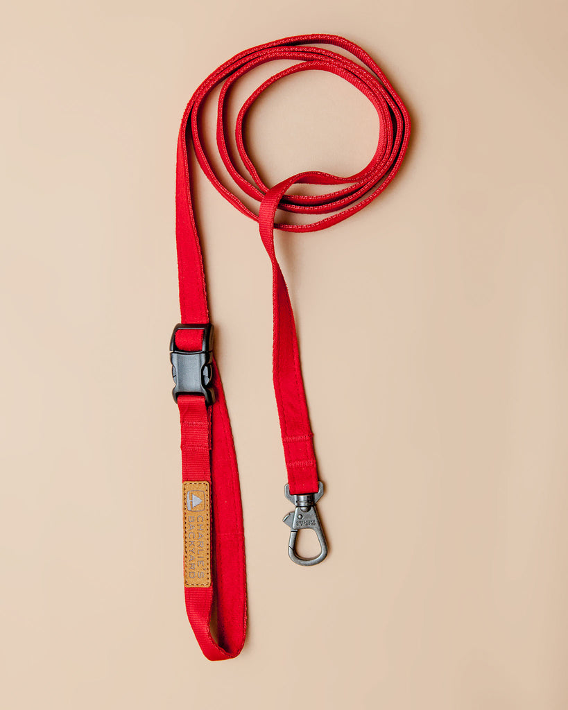 Adjustable Easy Dog Leash in Red