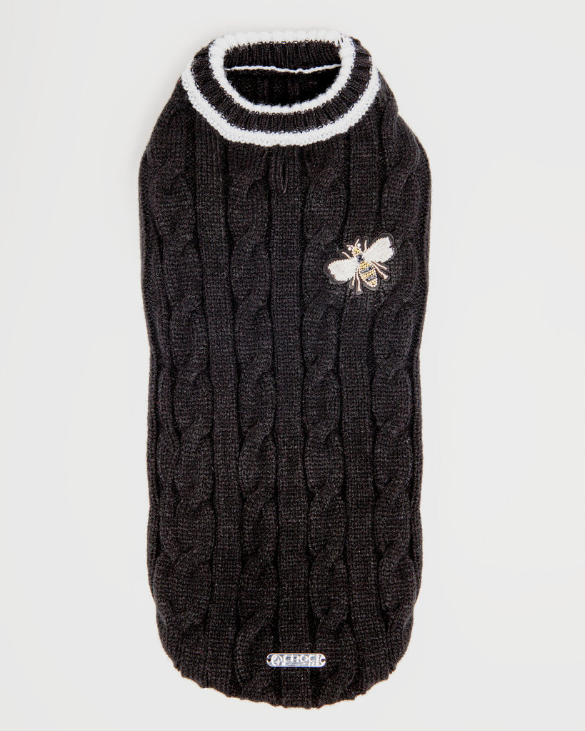 Black Bee Cable Sweater (FINAL SALE)
